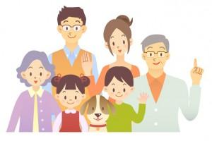 家族 家庭 子供 イラスト