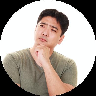 補聴器を使用しない家族に悩んでいる男性のアイコン